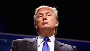 Trump chin up